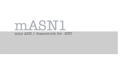 mASN1 - mini ASN.1 framework for .NET